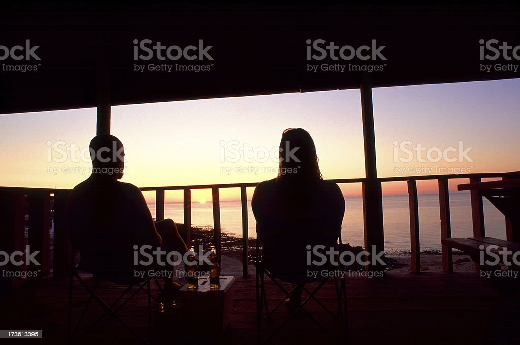 Honeymoon Vaction Sunset royalty-free stock photo