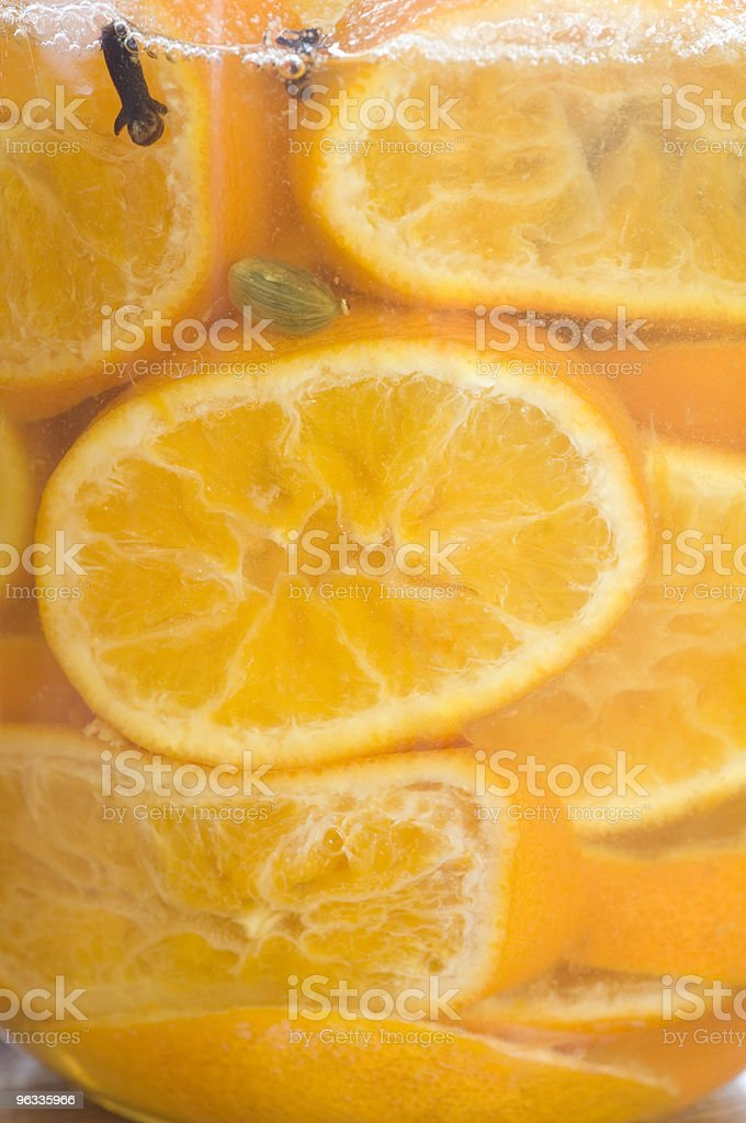Honey-Preserved Clementines royalty-free stock photo