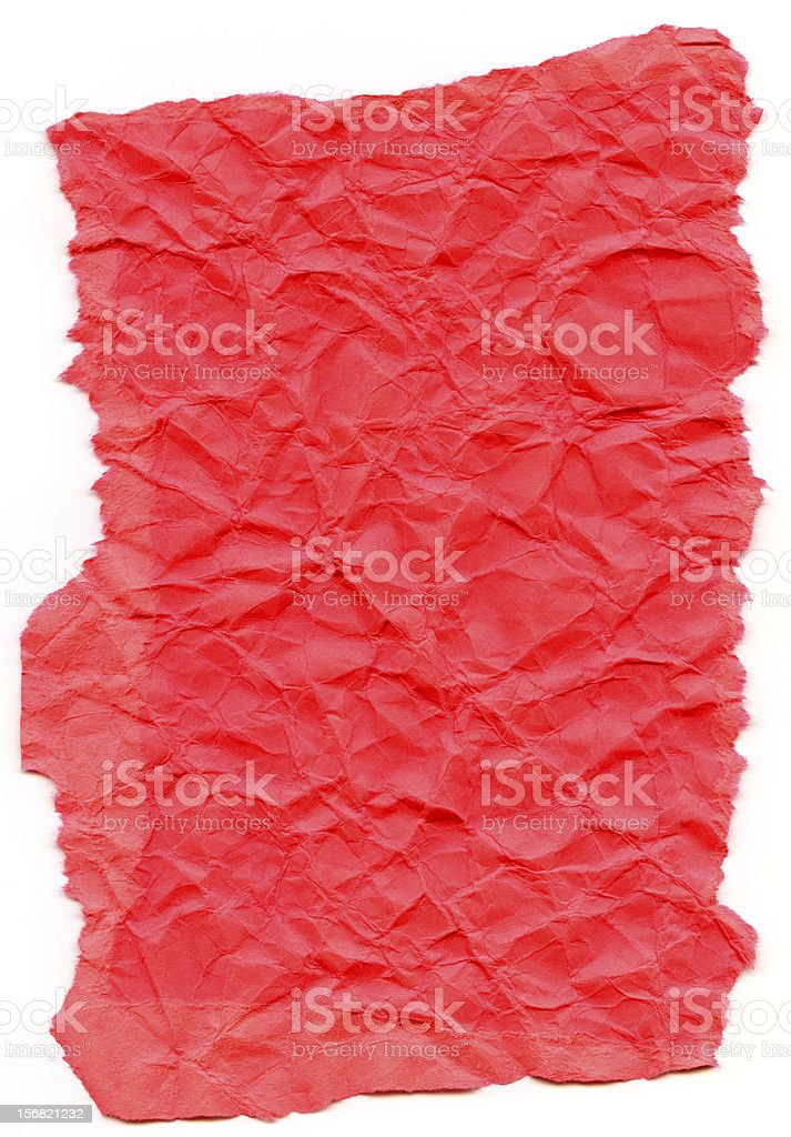 Honeysuckle Pink Fiber Paper - Crumpled with Torn Edges XXXXL royalty-free stock photo