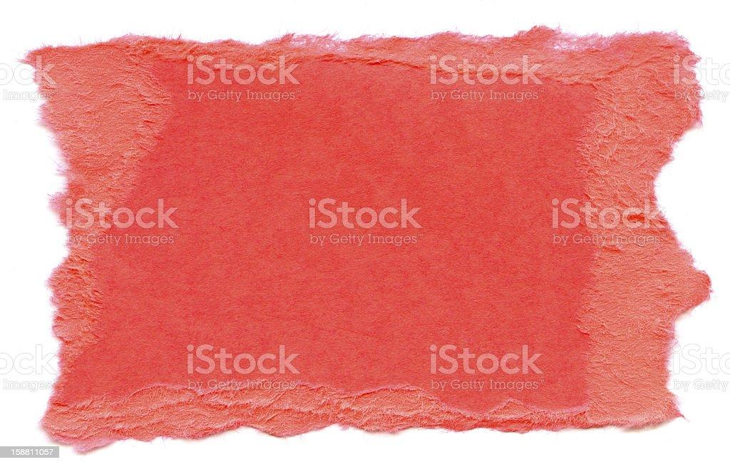 Honeysuckle Pink Fiber Paper - Torn Edges XXXXL royalty-free stock photo