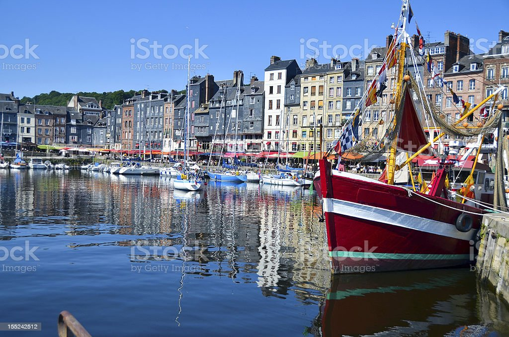Honfleur, France - Boats stock photo