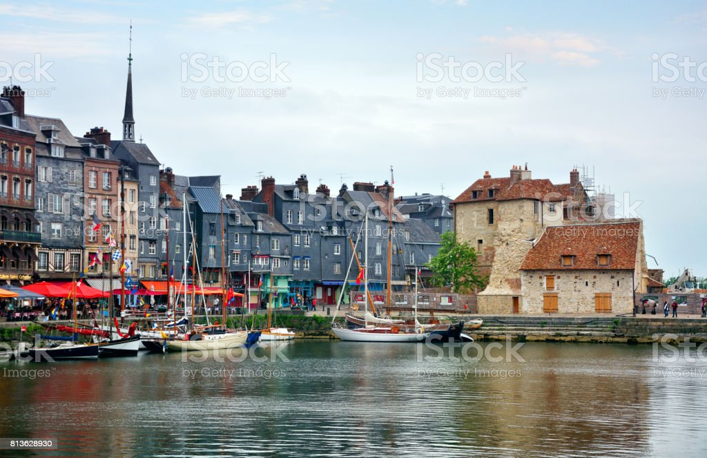 Honfleur harbor, France royalty-free stock photo