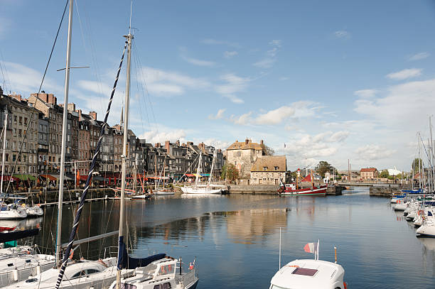 honfleur harbor - caen stock pictures, royalty-free photos & images