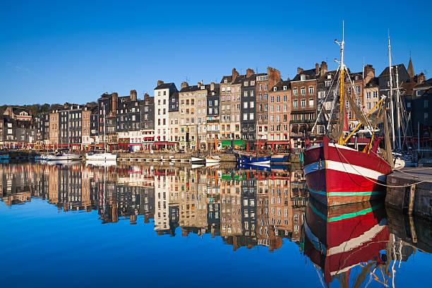 Honfleur Harbour Honfleur Harbour, Normandy, France. calvados stock pictures, royalty-free photos & images