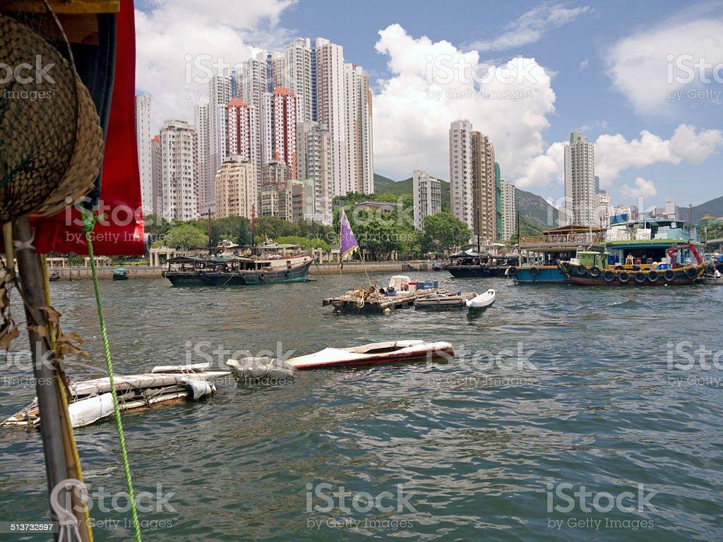 Hong Kong Aberdeen Harbour stock photo