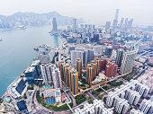 istock Hong Kong aerial view 907988608
