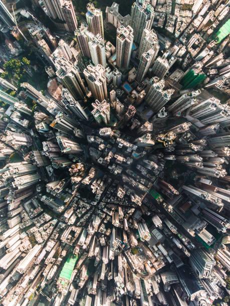 hong kong flygfoto - foton med hongkong bildbanksfoton och bilder