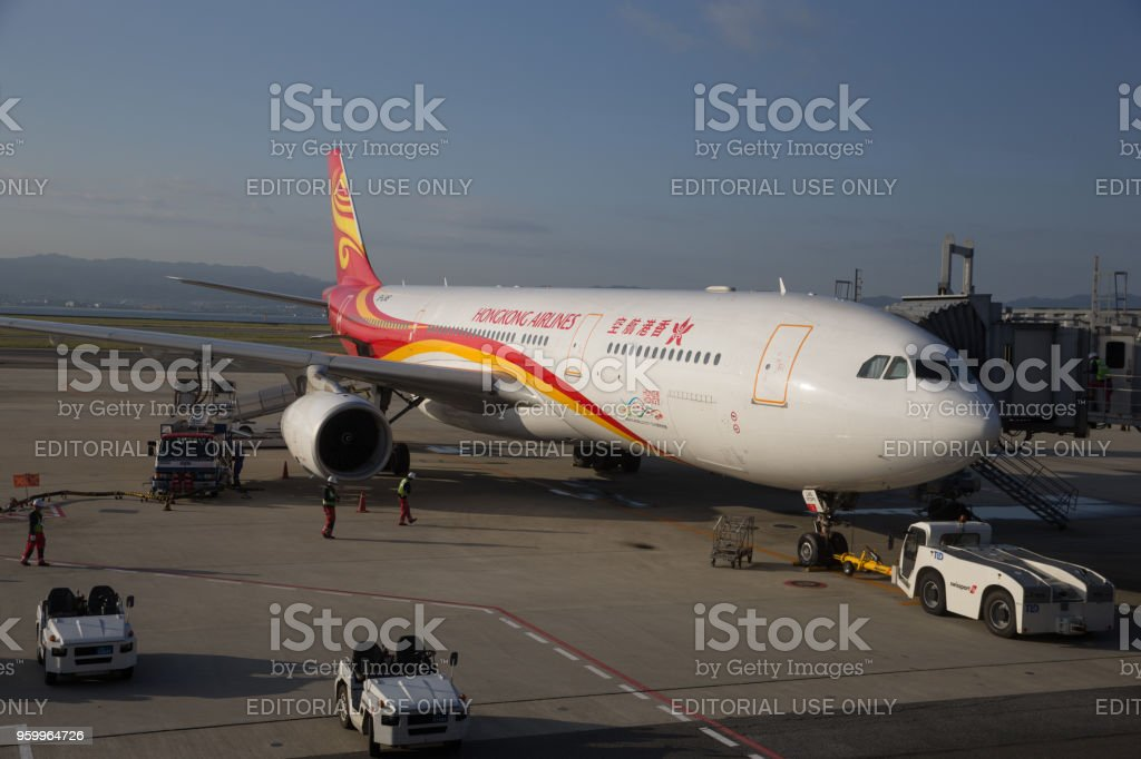 Hong Kong Airlines Airbus A330 stock photo