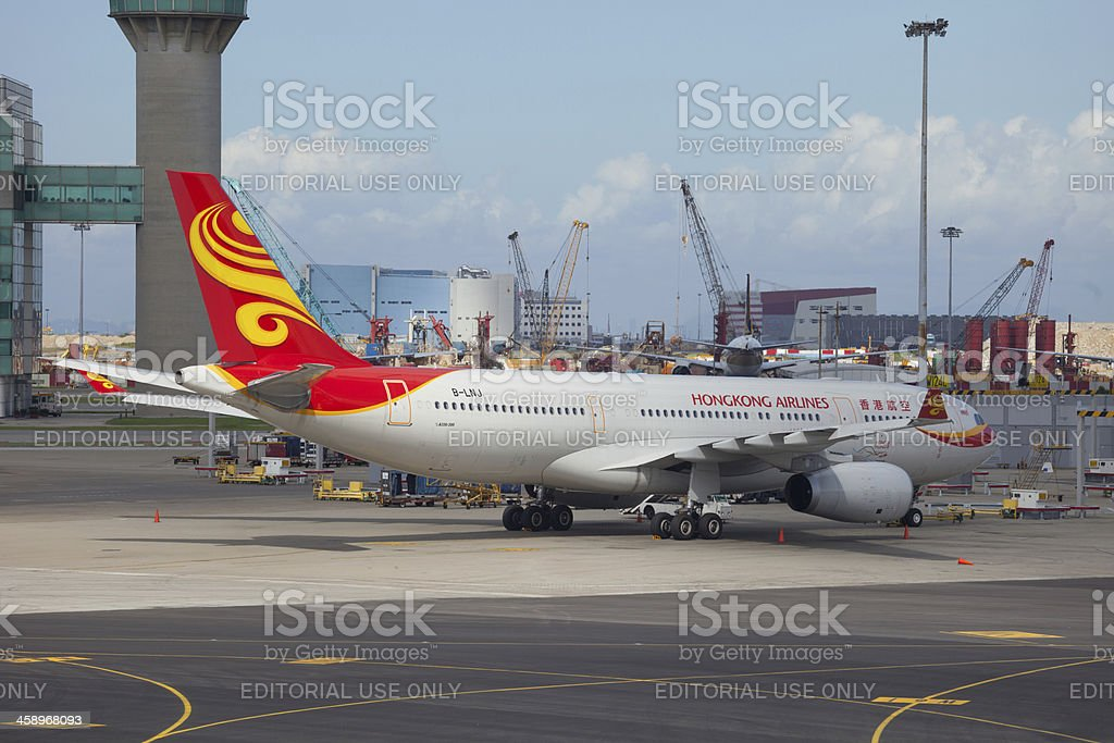 Hong Kong Airlines Airbus A330-200 royalty-free stock photo