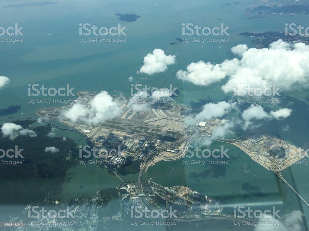 Aeroporto de Hong Kong  - foto de acervo
