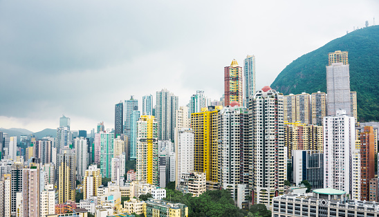 Hong Kong Apartment Block Stock Photo - Download Image Now ...