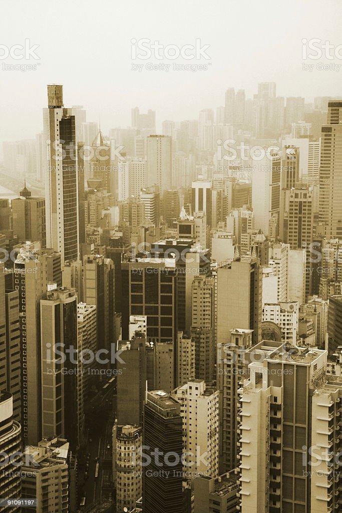 Edificios de Hong Kong foto de stock libre de derechos