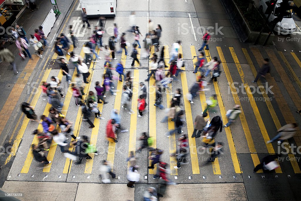 Hong Kong Busy Street. royalty-free stock photo