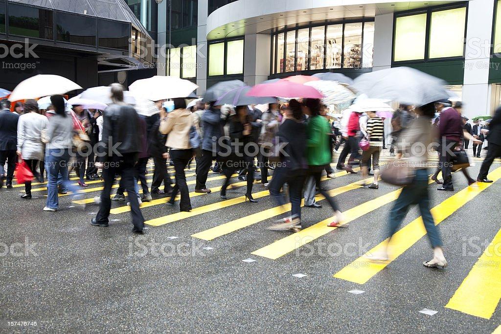 Hong Kong Busy Street. royalty-free stock photo
