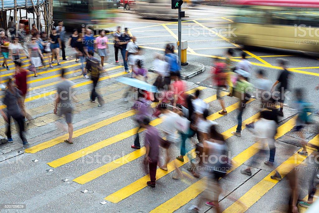Hong Kong Busy Street stock photo