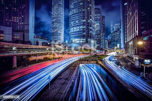 istock Hong Kong central district at night 486968426