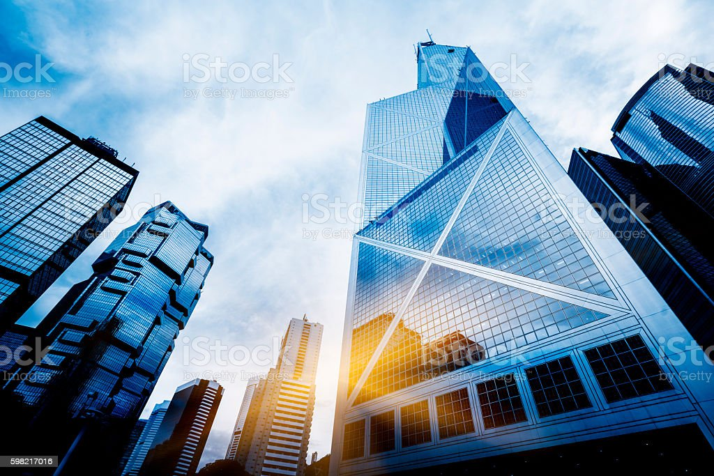 hong kong central district stock photo