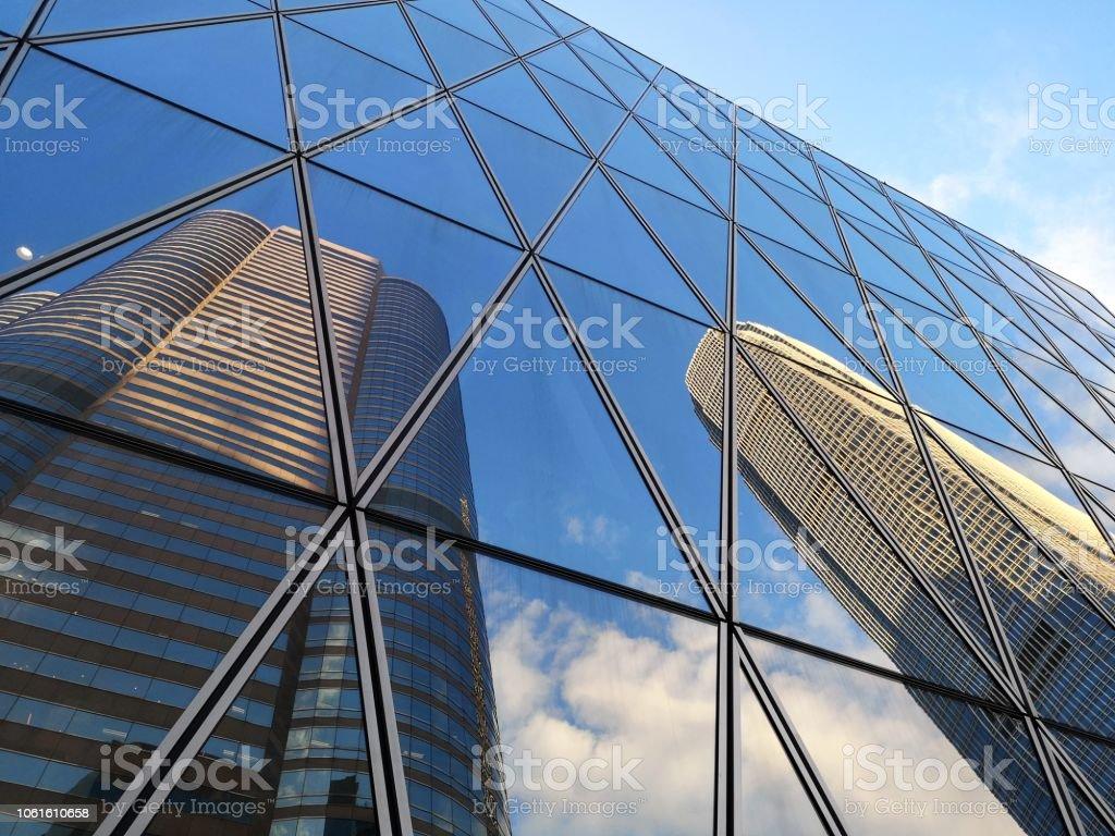 Hong Kong Central skyscrapers stock photo