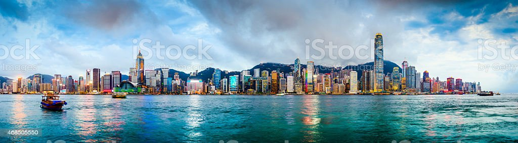 Hong Kong, China Panorama stock photo