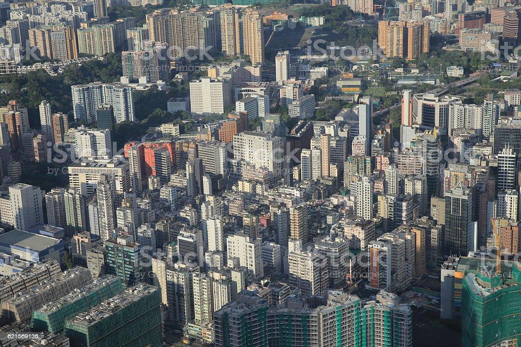 Hong Kong, China skyline panorama foto stock royalty-free
