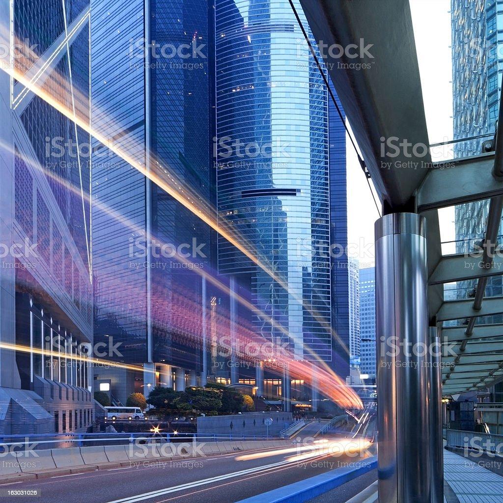 Hong Kong City at Night royalty-free stock photo