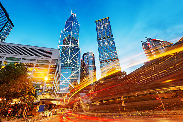 Hong Kong Stadt bei Nacht – Foto