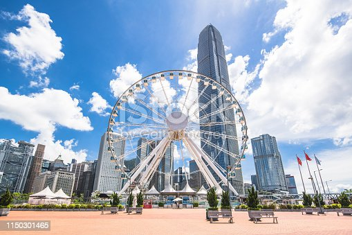 Hong Kong, Wheel, Circle, Cityscape, Exchange Square - Hong Kong