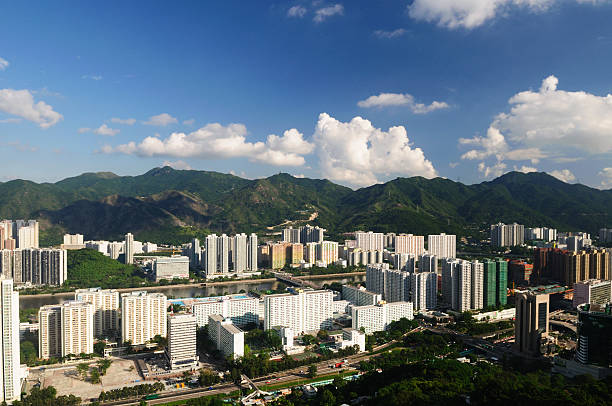 Hong Kong City Shatin Shatin is a good living place which including public estate, private housing and shopping centre sha tin stock pictures, royalty-free photos & images