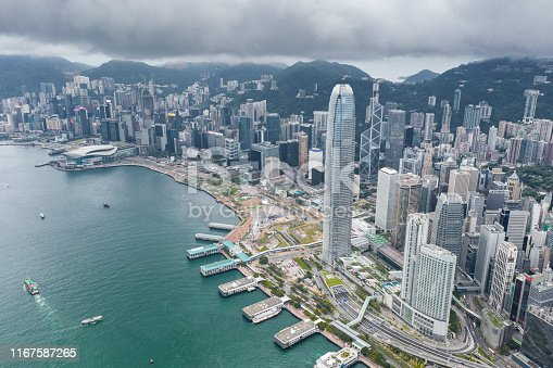 Central District - Hong Kong, China - East Asia, Hong Kong, Two International Finance Center, Victoria Harbour - Hong Kong