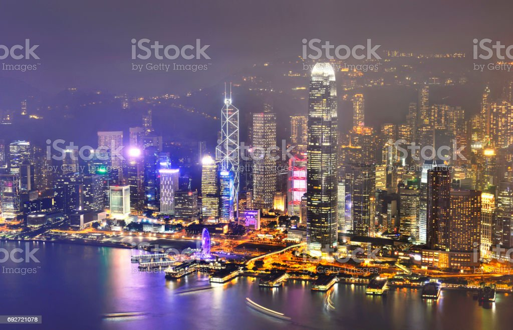 Hong Kong city skyline. stock photo