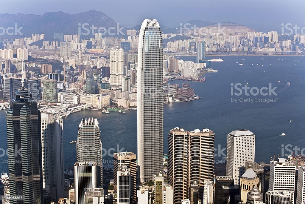 Hong Kong city view from Victoria peak royalty-free stock photo