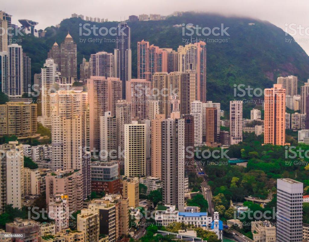 Hong Kong City View Lizenzfreies stock-foto