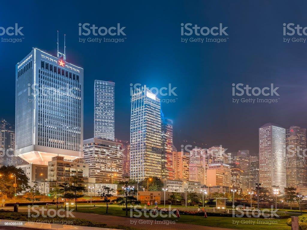 Hong Kong cityscape at night - Royalty-free Architecture Stock Photo