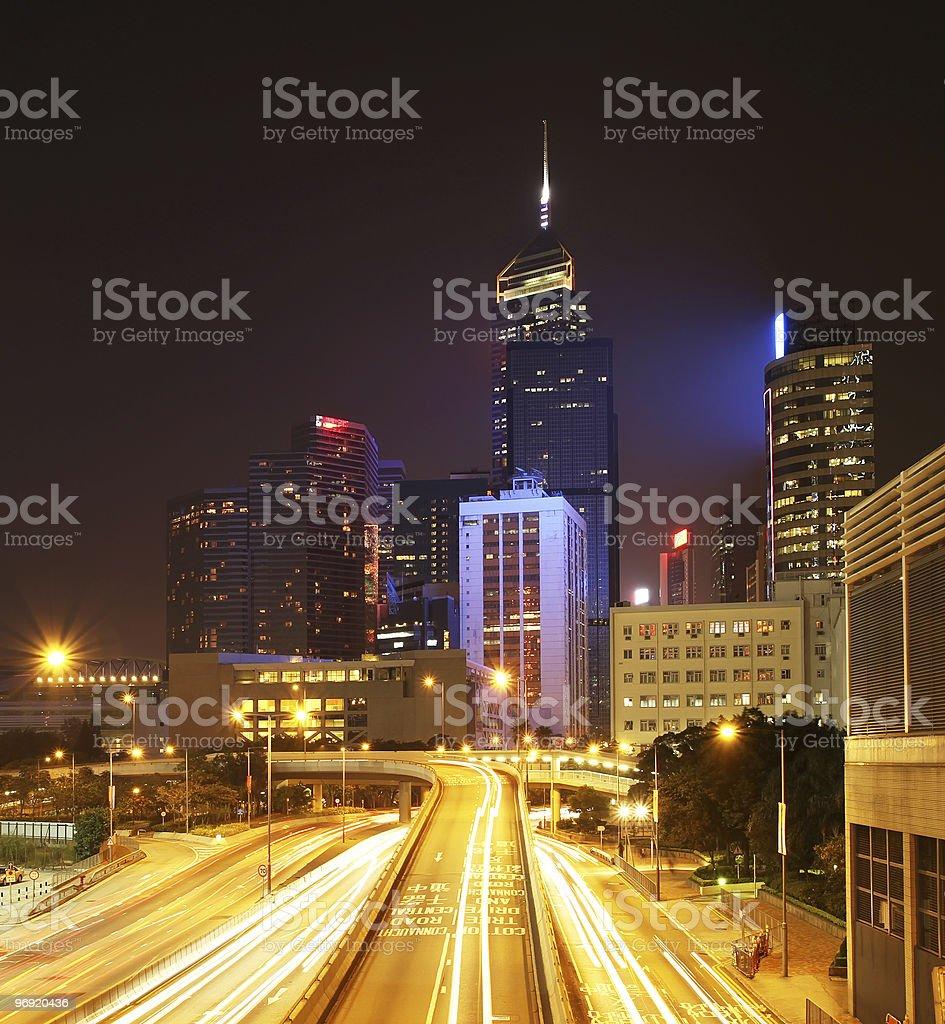 Hong Kong Cityscape at Night. royalty-free stock photo