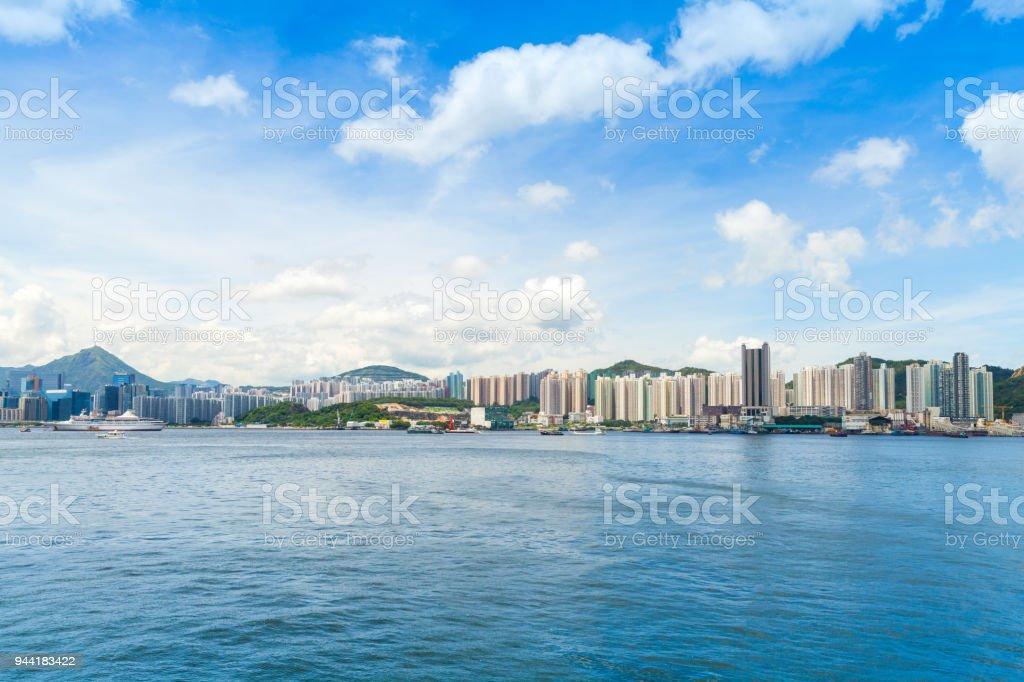 Hong Kong Stadtbild im Sommertag – Foto