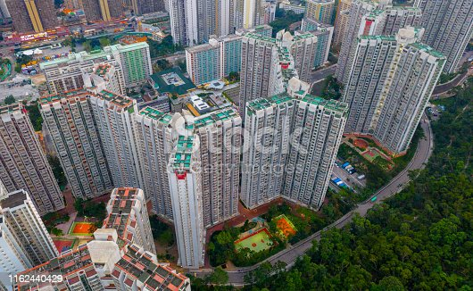 istock Hong Kong cityscape, mostly apartment buildings 1162440429