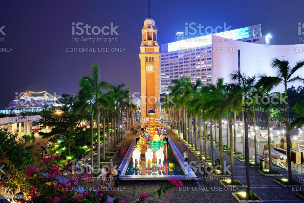 Hong Kong Clock Tower stock photo