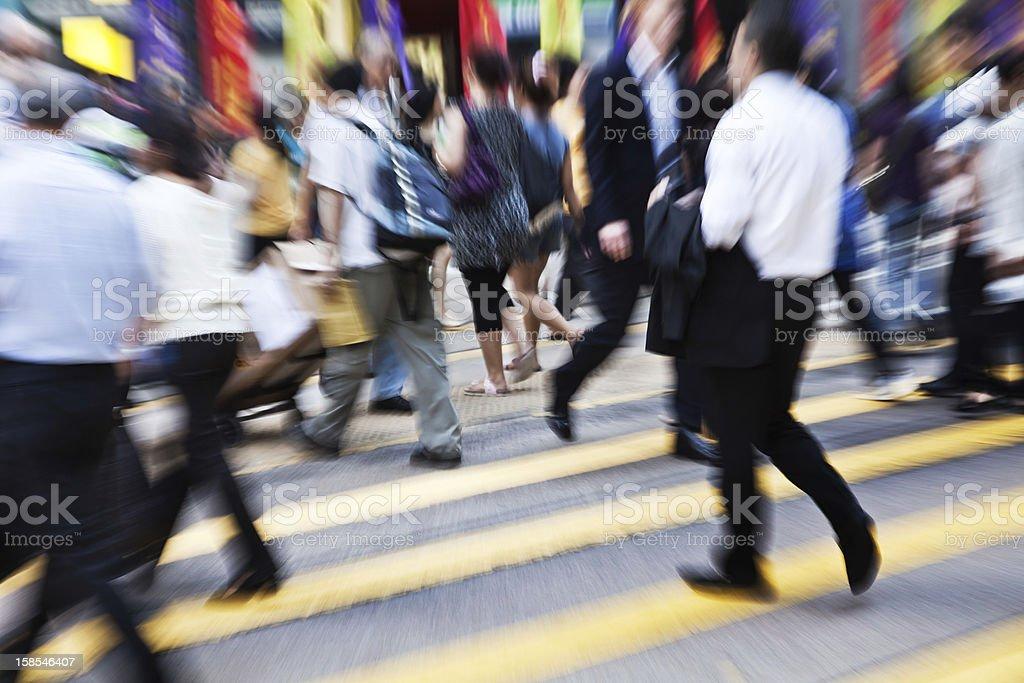 Hong Kong Commuters royalty-free stock photo