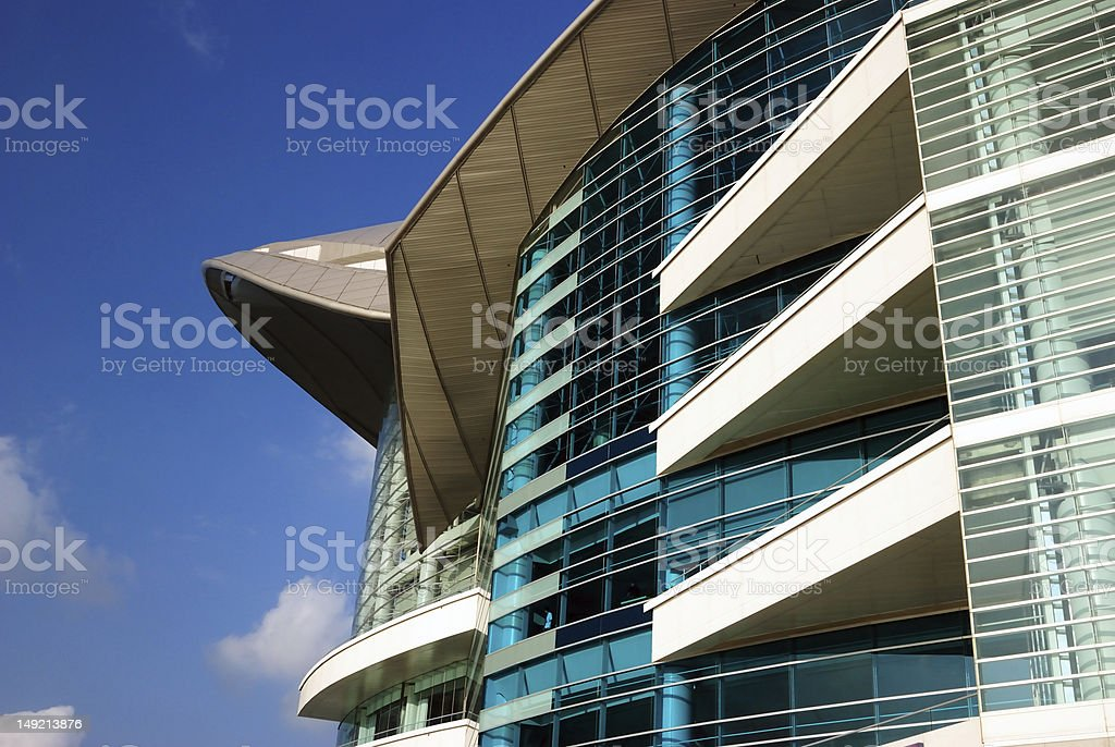 Hong Kong Convention and Exhibition Centre royalty-free stock photo