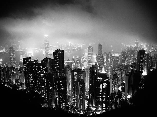 hong kong dark side - foton med hongkong bildbanksfoton och bilder