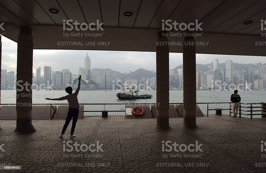 Hong Kong dawn royalty-free stock photo