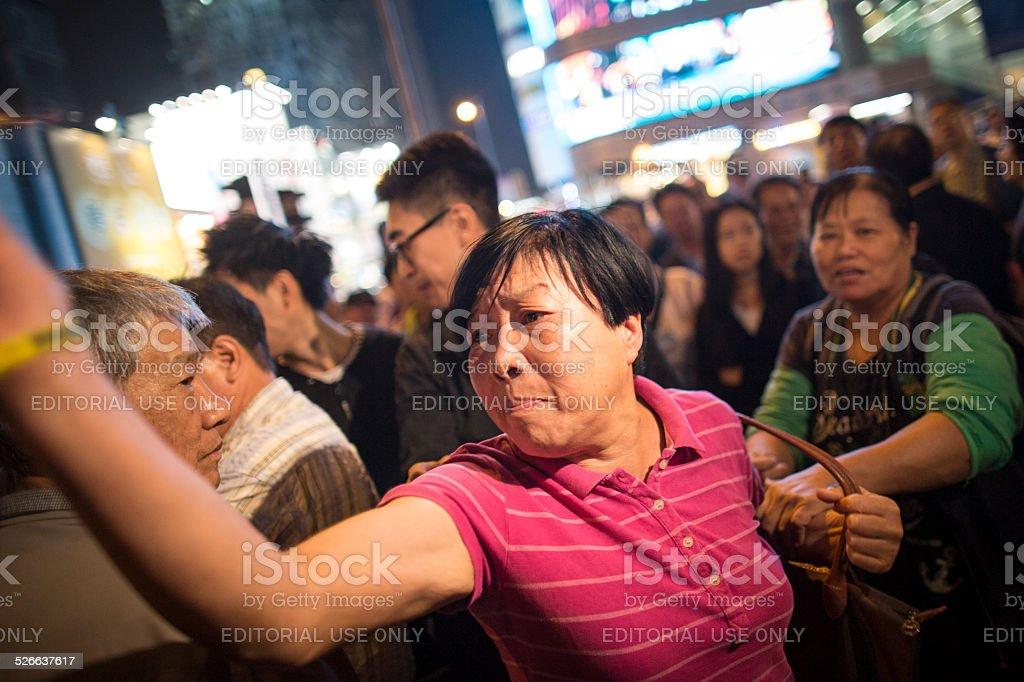 Hong Kong Democracy Protest stock photo