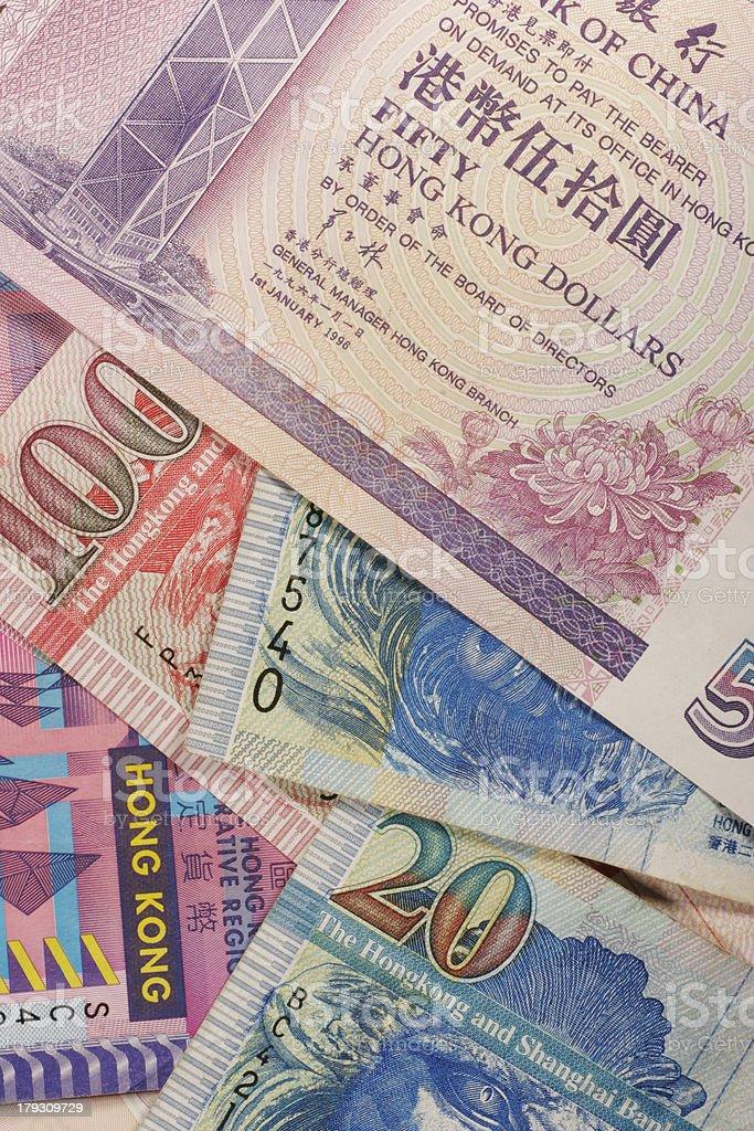 Hong Kong dollar bank notes royalty-free stock photo