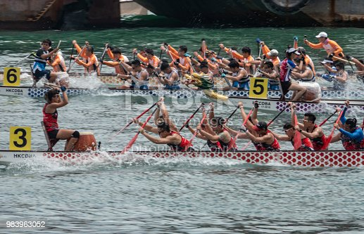 June 24, 2018, Hong Kong: Athletes from around the world were competing at the Hong Kong International Dragon Boat Races in the city's iconic Victoria Harbour.