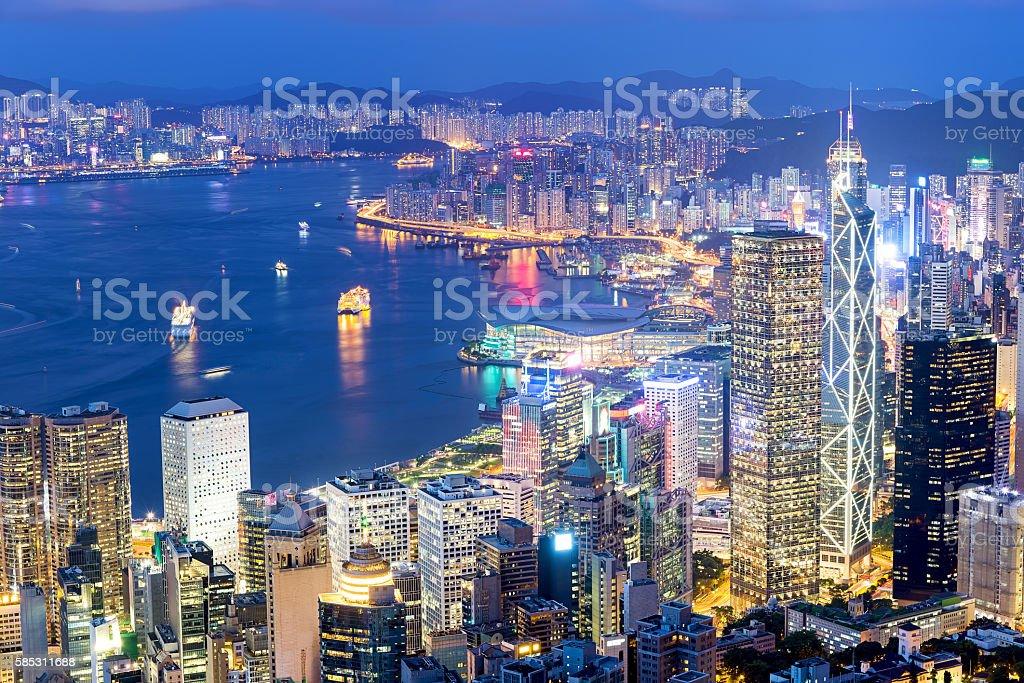 Hong Kong berühmten bei Nacht – Foto