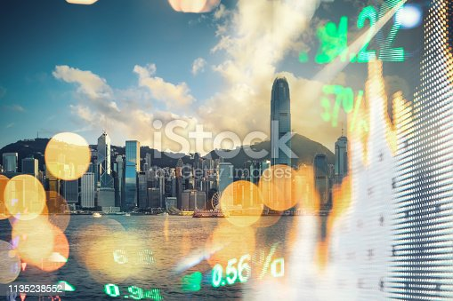 Graph, Stock Market Data, Big Data, Building Exterior, Chart, Hong Kong