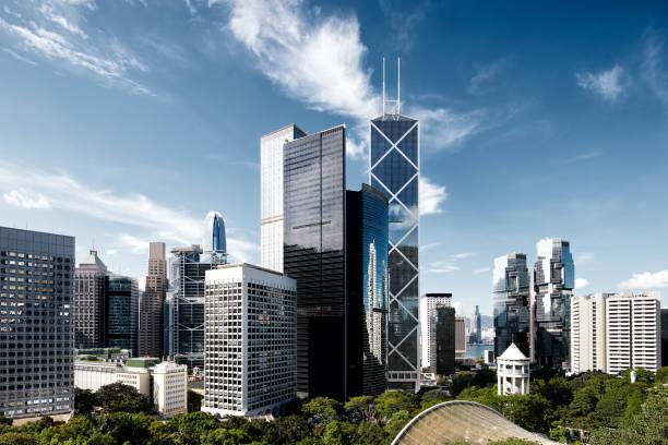 hong kong financial district - finanskvarter bildbanksfoton och bilder