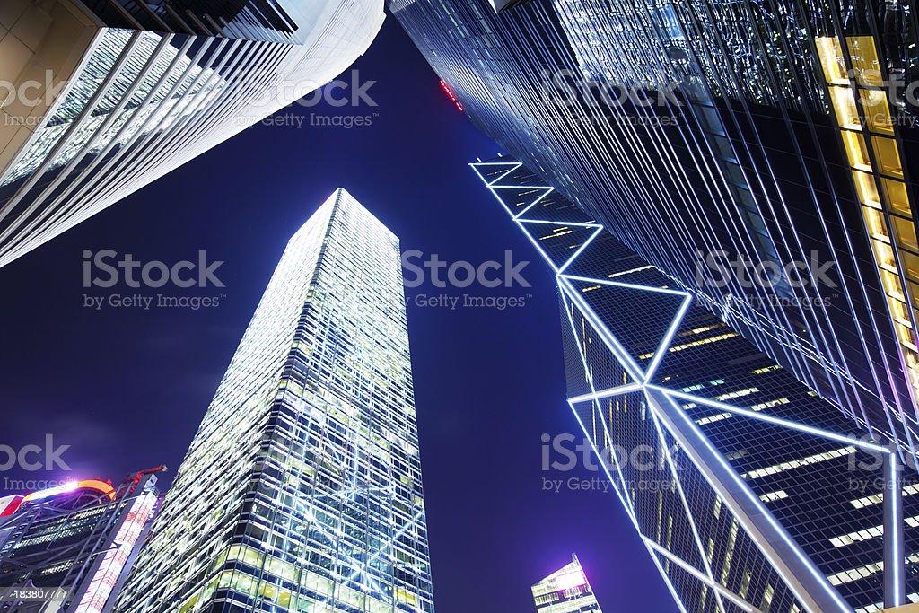 Hong Kong, Financial District royalty-free stock photo