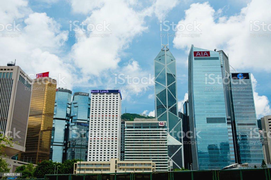 Hong Kong financial district stock photo