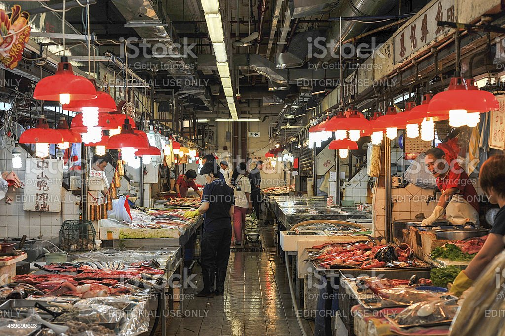 Hong Kong Fish Market stock photo